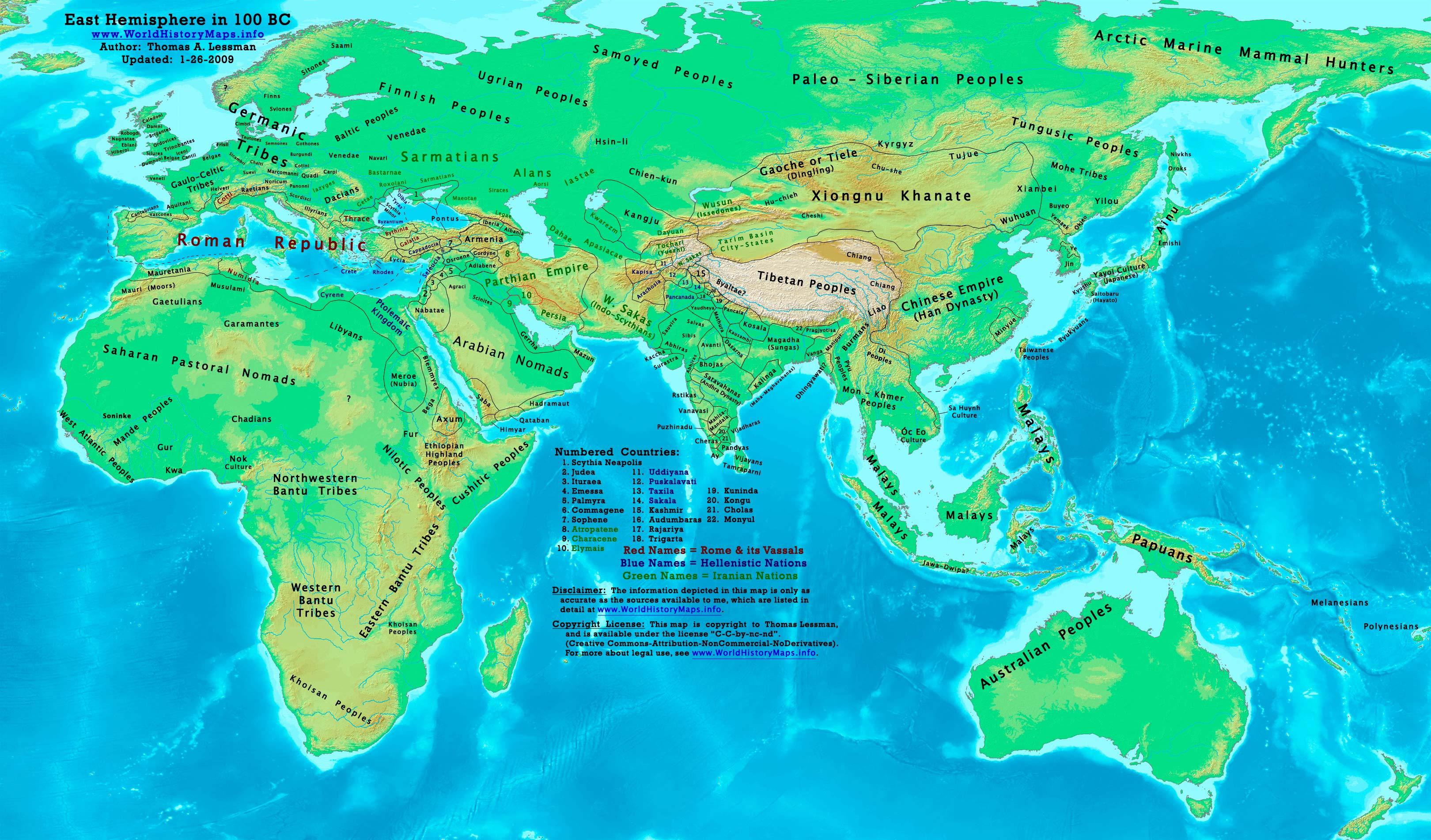 World history maps by thomas lessman 150 bc 100 bc gumiabroncs Choice Image