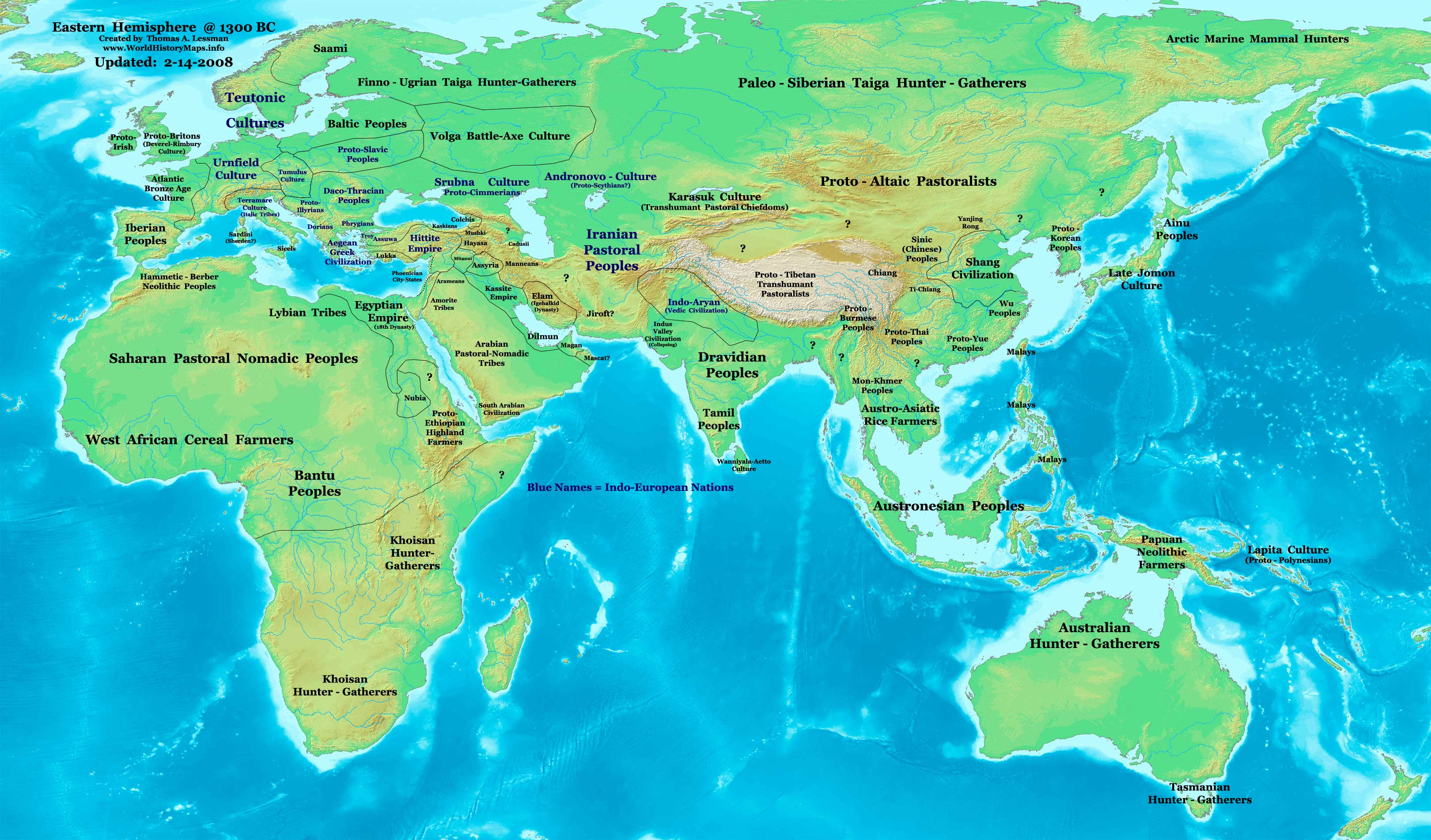 World History Maps By Thomas Lessman - Map of egypt 2000 bc