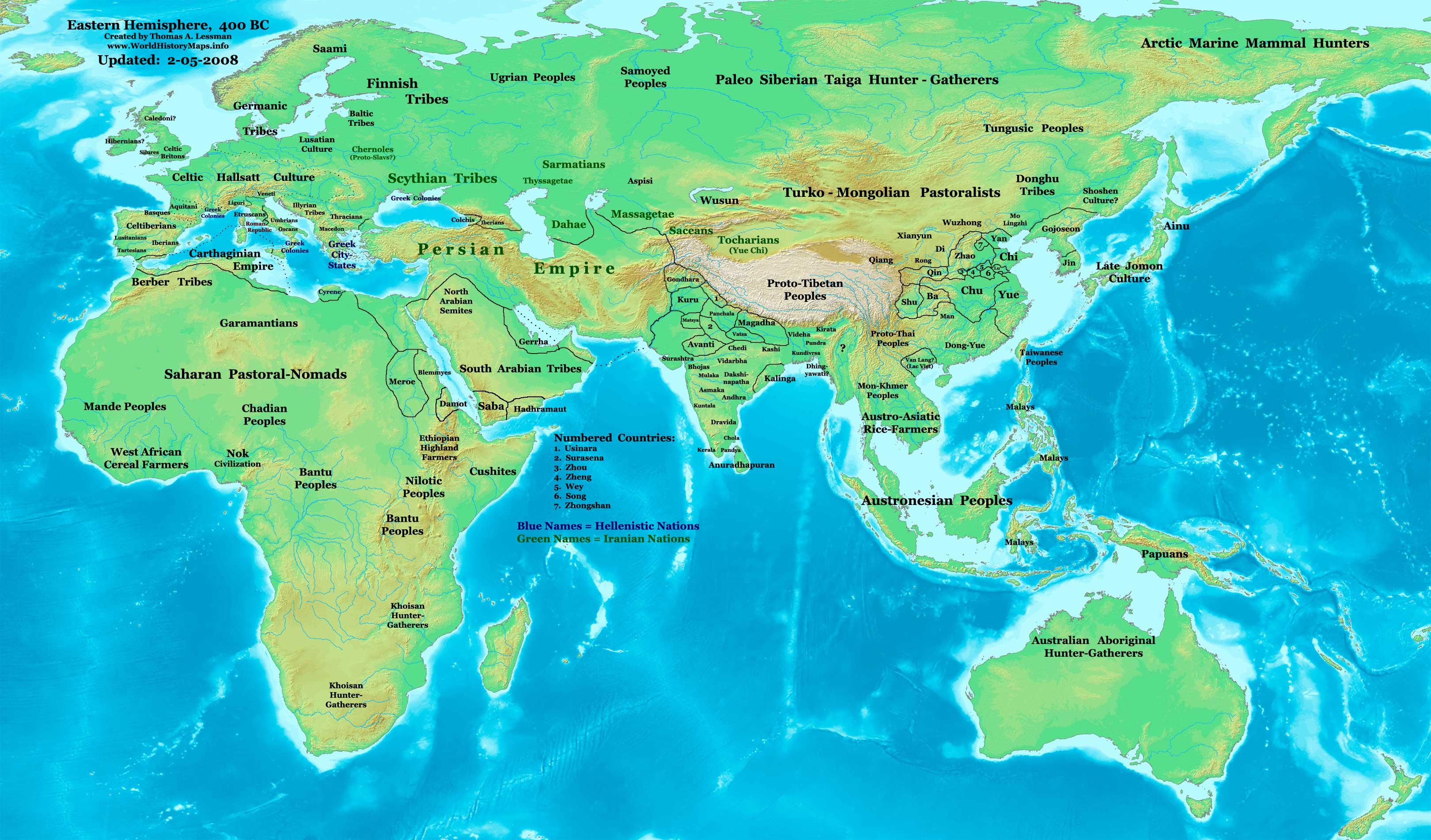 Map Of The Eastern Hemisphere World History Maps by Thomas Lessman