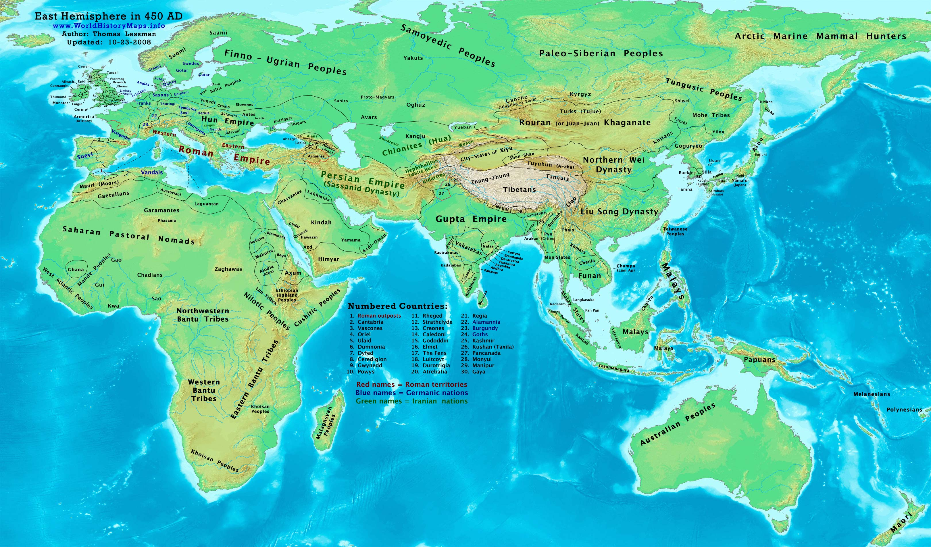 Map Of England 400 Ad.World History Maps By Thomas Lessman