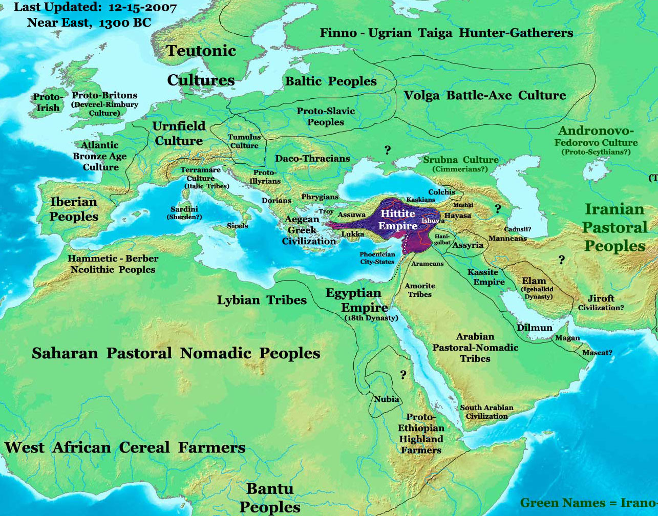 World history maps by thomas lessman hittite empire in 1300 bc ancient history maps gumiabroncs Gallery