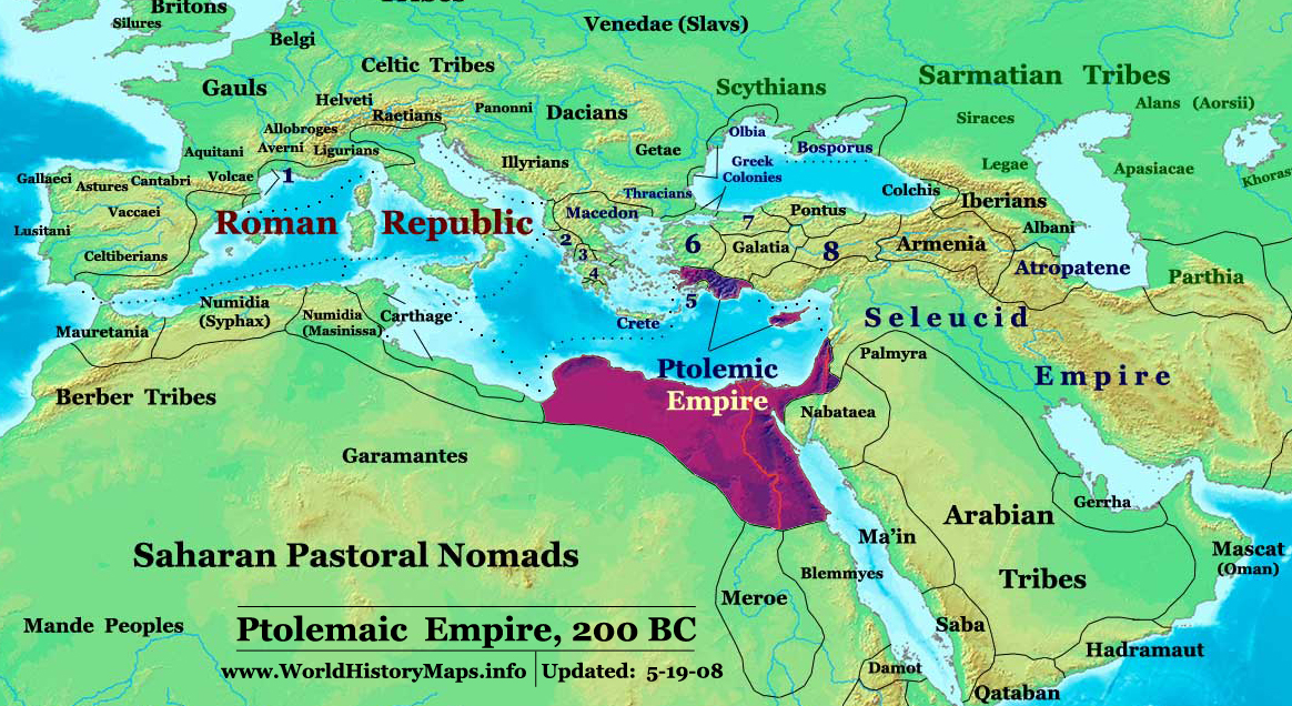 World history maps by thomas lessman ptolemaic empire in 200 bc gumiabroncs Gallery