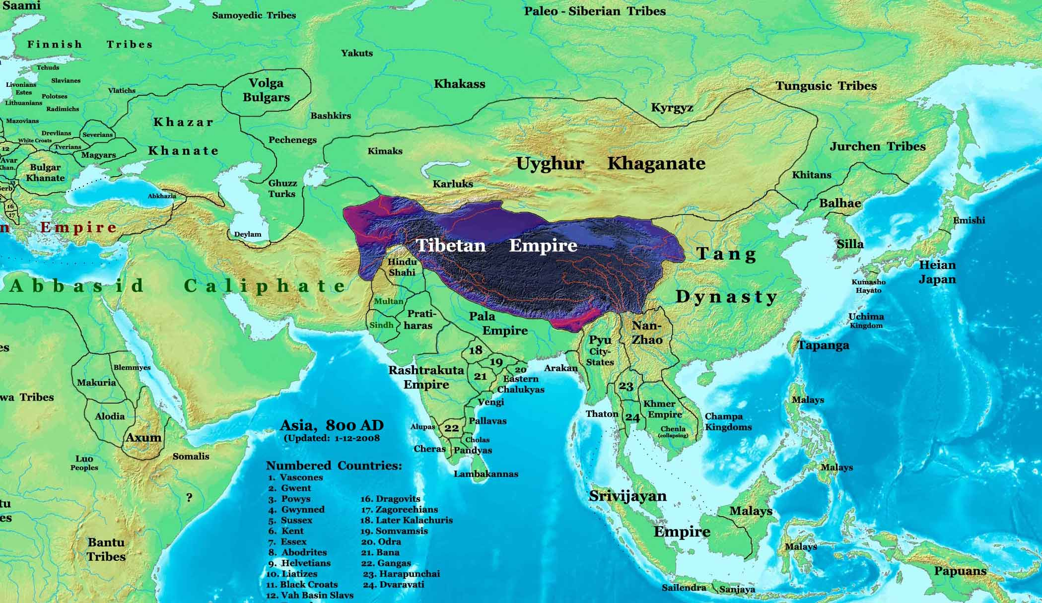 Map Of Asia 800 Ad.World History Maps By Thomas Lessman